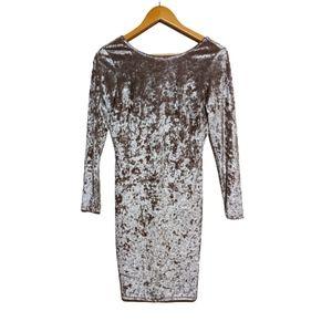 Charlotte Russe Long Sleeve Velvet Dress Medium